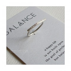Balance Horizontal Bar Ring Sterling Silver