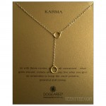 KARMA Double Circle Lariat Gold Boxed