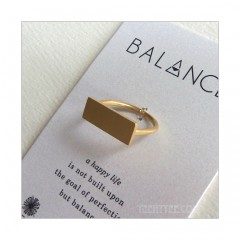 Balance WIde Bar Ring Gold Vermeil