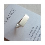 Balance Wide Bar Ring Sterling Silver