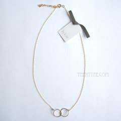 Interlocking Wire Circles Necklace