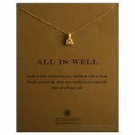 Peaceful Buddha ALL IS WELL Necklace Gold