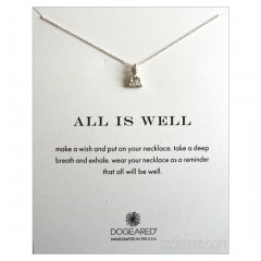 Peaceful Buddha  All IS WELL Necklace Silver