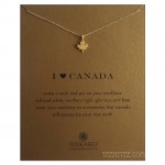 I Heart CANADA Necklace Gold