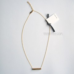 Coil Bar Charm Necklace Gold Filled