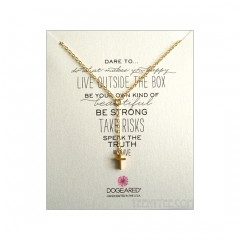 Dare to... Little Y Necklace Cross Charm Gold