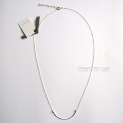 Curved Bar Necklace Sterling Silver