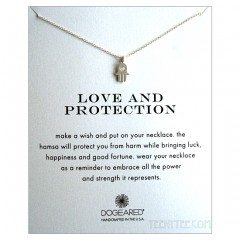 Heart Hamsa Love & Protection Necklace Sterling Silver