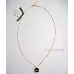 Black & Gold Little Heart Necklace