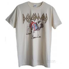 Def Leppard English Bull Dog Union Jack T-shirt