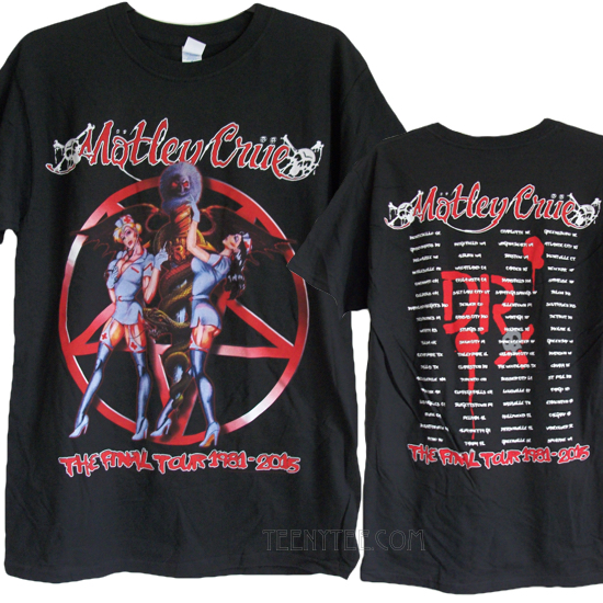 Motley Crue The Final Tour 2015 T Shirt