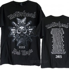 Motorhead Bad Magic Tour 2015 T-shirt