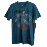 Lynyrd Skynyrd Rebel Guitar T-shirt Men / TEAL