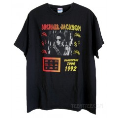 Michael Jackson Dangerous Tour 1992 Junk Food Originals T-shirt