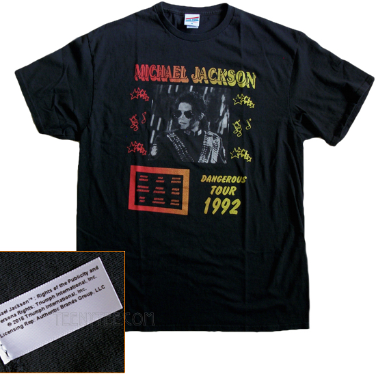 Michael Jackson Dangerous Tour 1992 Junk Food Originals T Shirt