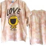 Mr. Happy Love Peach Tie Dye Flea Market T-shirt