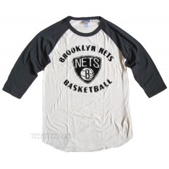 NBA Brooklyn NETS Rebound Raglan With Flocking