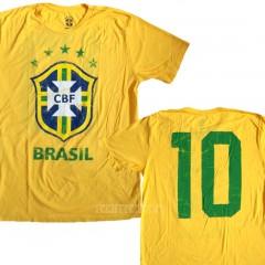 Brasil CBF Soccer Team #10 T-shirt