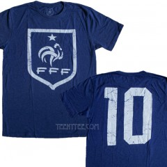 France FFF Soccer Team #10 T-shirt