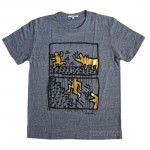 Keith Haring Graffiti Foil Print t-shirt