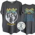 ACDC 1979 European Tour Shirt Tail Crew T