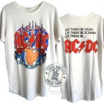 ACDC 1983 Tour Tri-blend Shirt Tail Crew T