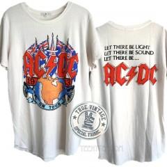 ACDC 1983 Tour Tri-blend Shirt Tail Crew T