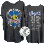 Aerosmith Pump Tour 1990 Tri-blend Shirt Tail Crew T