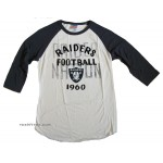 NFL 2013-4 Oakland Raiders Rookie Raglan Flocking / Mens