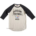 NFL 2013-4 Pittsburgh Steelers Rookie Raglan Flocking / Mens