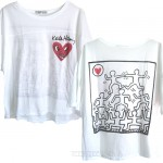 Keith Haring HEART Knock out T