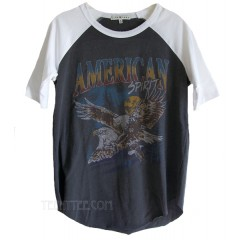 American Spirit Color Block Short Raglan T Eagle