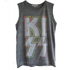 KISS Rainbow Foil Print Wanderer Tank