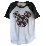 Mickey Mouse Color Block Short Raglan T Palm