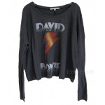 David Bowie All Night Long Cropped T