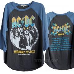 ACDC Euro Tour 1979 Boyfriend Raglan T