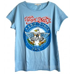 Aerosmith Aero Force One Boyfriend crew T