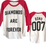 007 BOND Diamonds are Forever Vintage Heather Raglan T