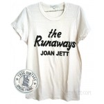 The Runaways Joan Jett Fitted Crew Destroyed Finish T