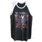 Wonder Woman Foil Logo Rebel Raglan Tank