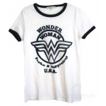 Wonder Woman Fearless & Independent Ringer the Retro T