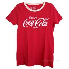 Coca Cola Logo Contrast Ringer T