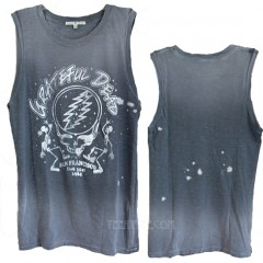 Grateful Dead Destroyed Muscle Tank Bleach Spray