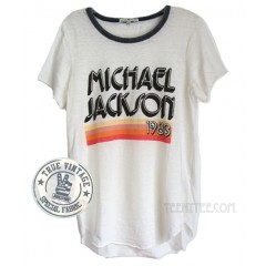 Michael Jackson 1983 Burn Out Ringer T