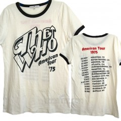The Who American Tour '75 Contrast Ringer T