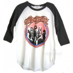 Aerosmith Destroyed 3/4 Sleeve Color Block Raglan T