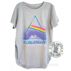Pink Floyd Shirt Tail with Side Slit T Destroyed FInish