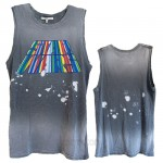 Star Wars Destroyed Muscle Tank with Bleach Spray