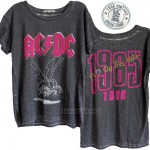 ACDC Fly 1985 Tour Burn-out Ex-Boyfriend T-shirt