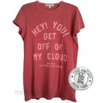 The Rolling Stones GET OFF OF MY CLOUD Lyric Tri-Blend Destroyed Flocking T